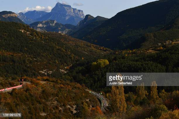 Peloton / Alto de Fanlo / Forest / Autumn / Landscape / during the 75th Tour of Spain 2020, Stage 5 a 184,4km Huesca to Sabiñánigo 835m / @lavuelta /...
