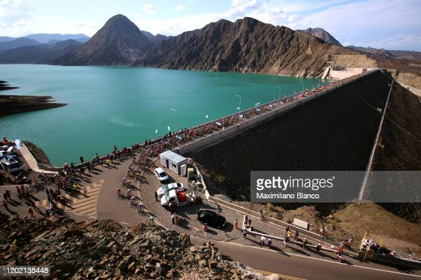 Peloton / Alto Punta Negra / Public / Fans / Mountains / Landscape / during the 38th Vuelta a San Juan International 2020, Stage 1 a 168km stage from...