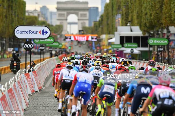 Peloton / Arc De Triomphe /during the 105th Tour de France 2018, Stage 21 a 116km stage from Houilles to Paris Champs-Elysees / TDF / on July 29,...