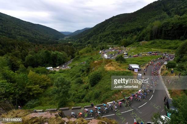 Peloton / Ballon d'Alsace / Public / Fans / Caravan / Landscape / during the 106th Tour de France 2019, Stage 6 a 160,5km stage from Mulhouse to La...