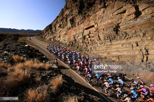Peloton / Baños de Talacastro / Landscape / during the 38th Vuelta a San Juan International 2020, Stage 5 a 169,5km stage from San Martín to Alto...