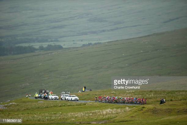 Peloton / Black Mountain / Landscape / Caravan / rduring the 6th OVO Energy Women's Tour 2019 Stage 6 a 1259km stage from Carmarthen to Pembrey...
