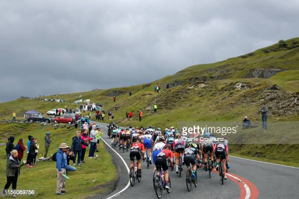Peloton / Black Mountain / Public / Fans / Landscape / during the 6th OVO Energy Women's Tour 2019 Stage 6 a 1259km stage from Carmarthen to Pembrey...