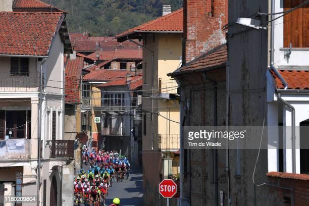Peloton / Borgomasino City / Landscape / during the 103rd Giro del Piemonte 2019 a 183km race from Agliè to Santuario di Oropa - Biella 1142m /...