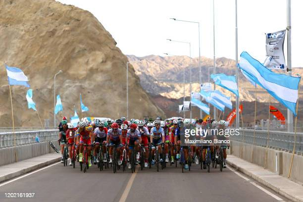 Peloton / Bridge / Argentina flag / during the 38th Vuelta a San Juan International 2020, Stage 1 a 168km stage from San Juan to San Juan /...