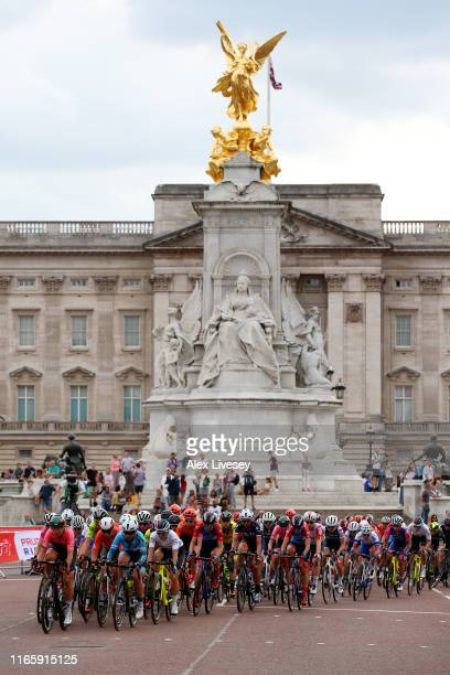 Peloton / Buckingham Palace / during the 7th Prudential RideLondon Classique 2019 a 68km stage from The Mall - London to The Mall - London /...