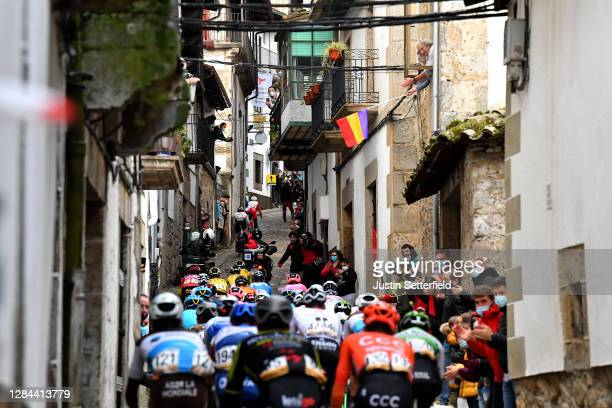 Peloton / Candelario Village / Public / Fans / Landscape / during the 75th Tour of Spain 2020, Stage 17 a 178,2km stage from Sequeros to Alto de la...