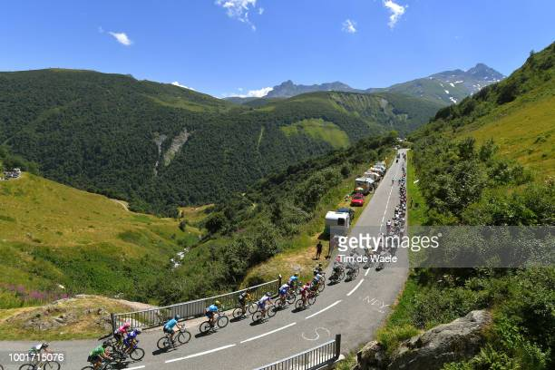 Peloton / Col De La Madeleine / Landscape / Peloton / Mountains / during the 105th Tour de France 2018 Stage 12 a 1755km stage from BourgSaintMaurice...