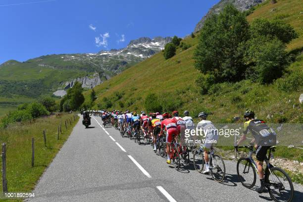 Peloton / Col De La Madeleine / Landscape / Peloton / Mountains / during the 105th Tour de France 2018 Stage 12 a 1755km stage from BourgSaintMaurice...