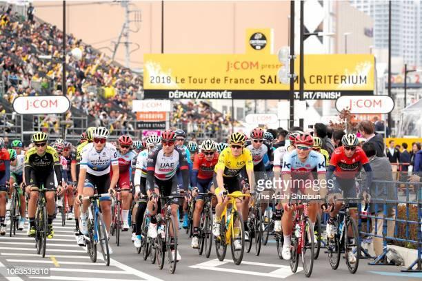 Peloton compete during the 6th Tour de France Saitama Criterium 2018 on November 4, 2018 in Saitama, Japan.