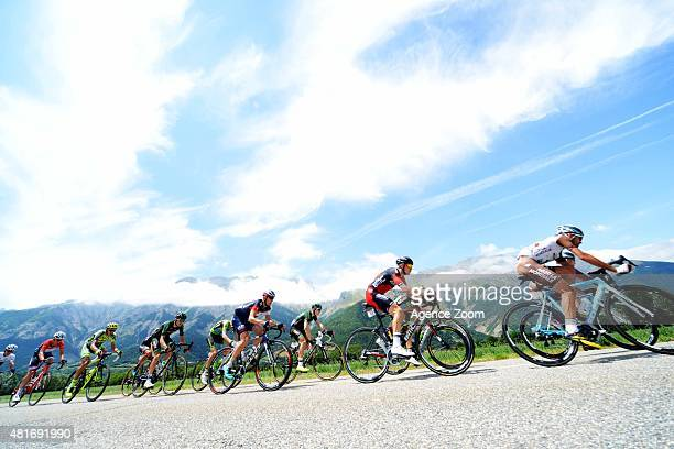 Peloton competes during Stage Eighteen of the Tour de France on Thursday 23 July 2015, Saint Jean de Maurienne, France.