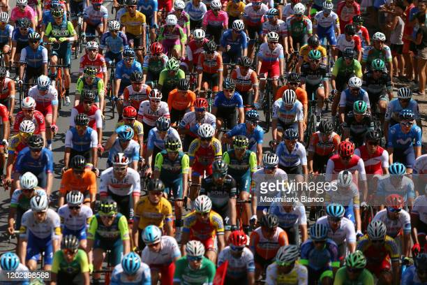 Peloton / Detail view / during the 38th Vuelta a San Juan International 2020, Stage 2 a 150km stage from Pocito to Pocito / @vueltasanjuanok /...
