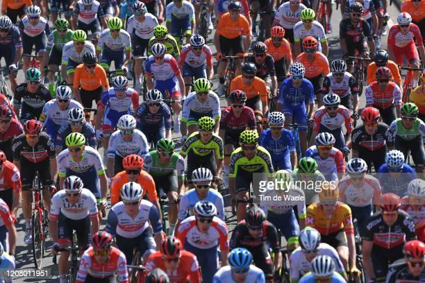 Peloton / Detail view / during the 46th Volta ao Algarve 2020, Stage 4 a 169,7km stage from Albufeira to Alto do Malhão 518m - Loulé / #VAlgarve2020...