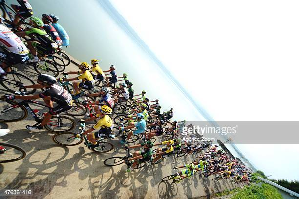 Peloton during Stage Two of the Criterium du Dauphine on Monday 08 June 2015 Le Bourget du Lac France