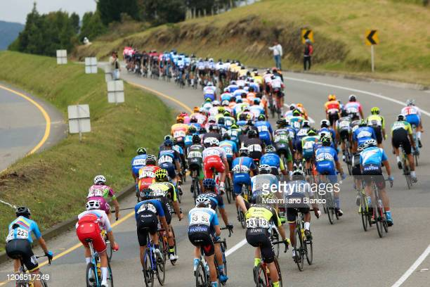 Peloton / during the 3rd Tour of Colombia 2020, Stage 5 a 180,5km stage from Paipa to Zipaquirá / @TourColombiaUCI / #TourColombia2020 / on February...