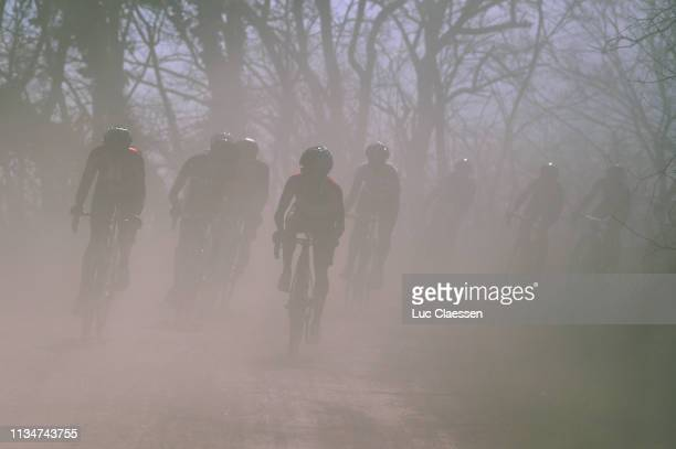 Peloton / Dust / during the 5th Strade Bianche 2019, Women a 136km race from Siena to Siena - Piazza del Campo / @StradeBianche / Eroica / on March...