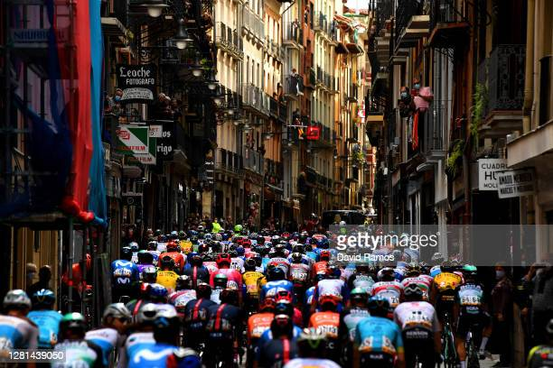 Peloton / Estafeta Street / Pamplona City / Balconies / Public / Fans / Landscape / during the 75th Tour of Spain 2020, Stage 2 a 151,6km stage from...