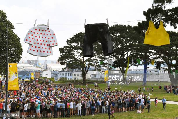 Peloton / Fans / Public / Brest City / Landscape / Polka Dot Jersey / Yellow Jersey / during 105th Tour de France 2018, Stage 6 a 181km stage from...