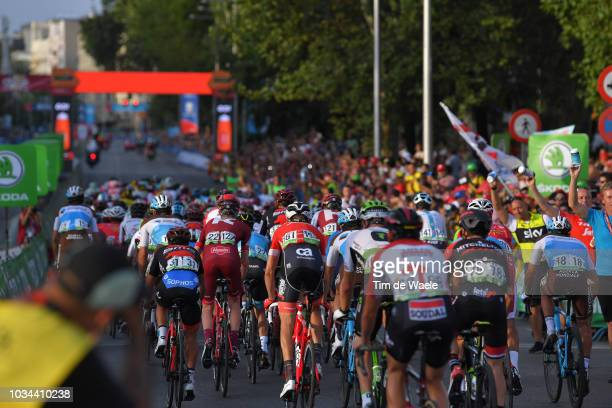 Peloton / Feed Zone / during the 73rd Tour of Spain 2018 Stage 21a 1009km stage from Alcorcon to Madrid / La Vuelta / on September 16 2018 in Madrid...
