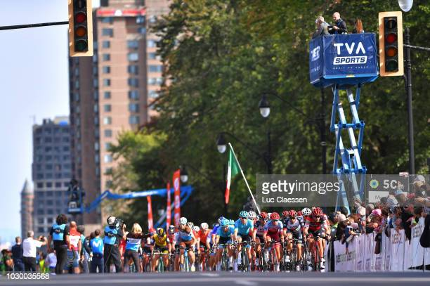 Peloton / Feed Zone / Landscape / during the 9th Grand Prix Cycliste de Montreal 2018 a 1952km race from Montreal to Montreal 79m / GPCQM / on...
