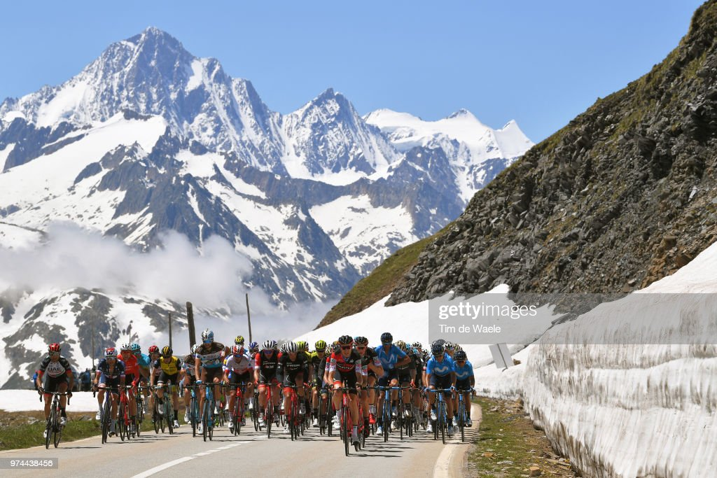 Peloton / Furkapass (2429m) Mountains / Landscape / during the 82nd Tour of Switzerland 2018 / Stage 6 a 186km from Fiesch to Gommiswald 598m on June 14, 2018 in Gommiswald, Switzerland.