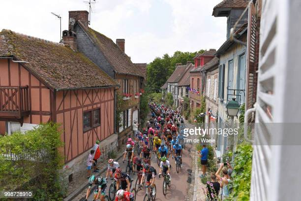 Peloton / Gerberoy City / Landscape / during the 105th Tour de France 2018, Stage 8 a 181km stage from Dreux to Amiens Metropole / TDF / on July 14,...