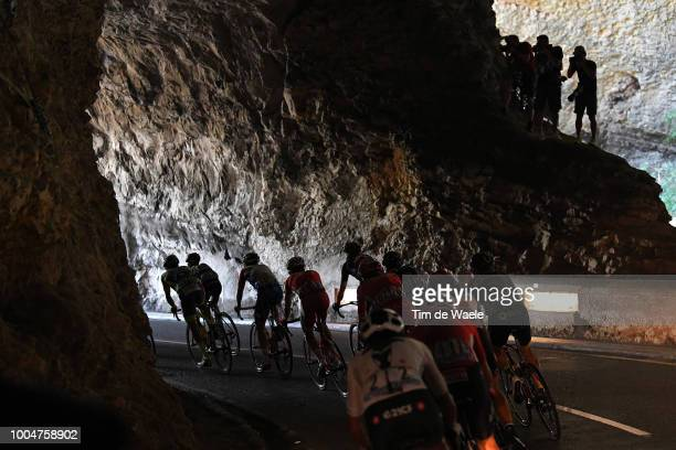 Peloton / Grotte Du Mas-D'azil / during the 105th Tour de France 2018, Stage 16 a 218km stage from Carcassonne to Bagneres-de-Luchon on July 24, 2018...