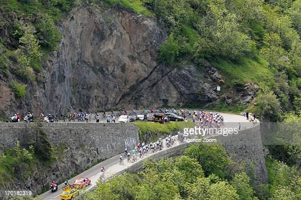 Peloton in Montee de l'Alpe d'Huez during Stage Seven of the Criterium du Dauphine Le PontdeClaix to Superdevoluy on June 8 2013 in Superdevoluy...