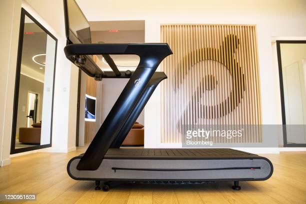 Peloton Interactive Inc. Tread exercise machine for sale at the company's showroom in Dedham, Massachusetts, U.S., on Wednesday, Feb. 3, 2021....