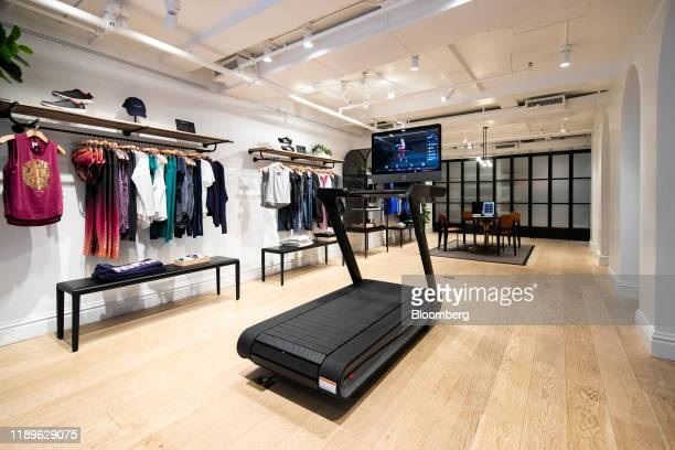 Peloton Interactive Inc. Treadmill sits on display at the company's showroom on Madison Avenue in New York, U.S., on Wednesday, Dec. 18, 2019. The...
