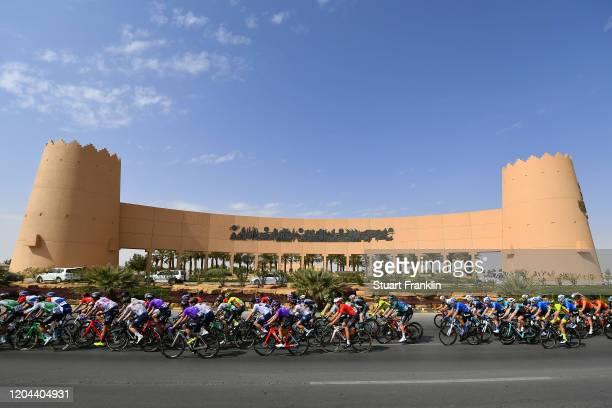 Peloton / Landscape / Castle / during the 1st Saudi Tour 2020, Stage 3 a 119km stage from King Saud University to Al Bujairi 665m / #SaudiTour / on...