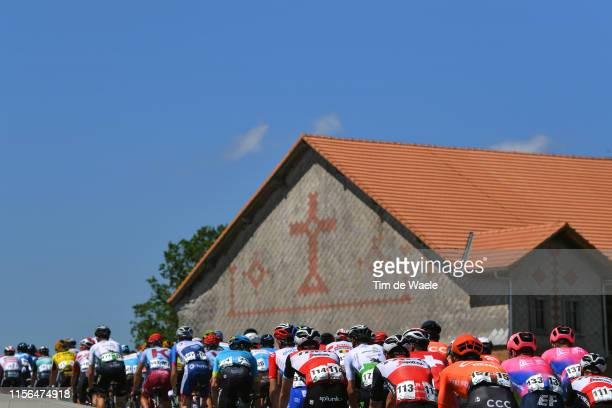 Peloton / Landscape / Church / during the 83rd Tour of Switzerland, Stage 3 a 162,3km stage from Flamatt to Murten 448m / TDS / @tds / #tourdesuisse...