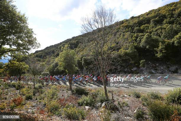 Peloton / Landscape / Col de Lagarded'Apt on March 8 2018 in SalondeProvence France