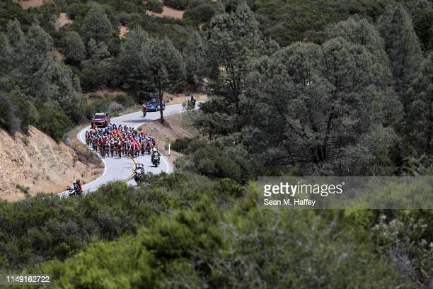 / Peloton / Landscape / cyclists compete during the 14th Amgen Tour of California 2019 Stage 3 a 208km stage from Stockton to Morgan Hill / #AmgenTOC...