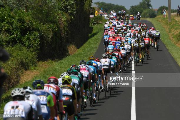 Peloton / Landscape / during the 105th Tour de France 2018, Stage 18 a 171km stage from Trie-sur-Baise to Pau on July 26, 2018 in Pau, France.