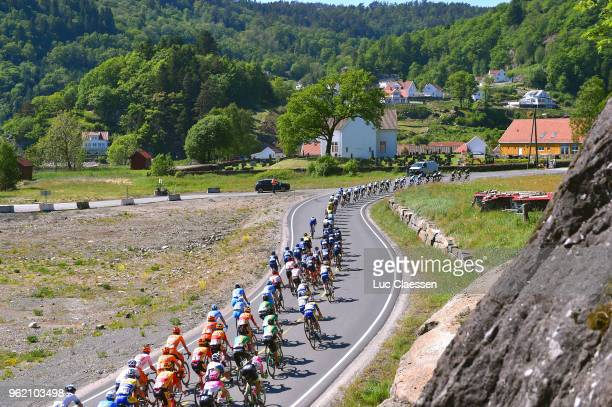 Peloton / Landscape / during the 11th Tour des Fjords 2018 Stage 3 a 183km stage from Farsud to Egersund on May 24 2018 in Egersund Norway