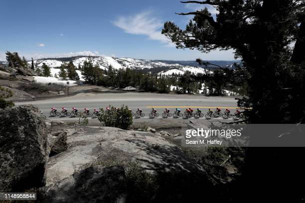 Peloton / Landscape /during the 14th Amgen Tour of California 2019, Stage 2 a 214,5km stage from Rancho Cordova to South Lake Tahoe 2022m / #AmgenTOC...