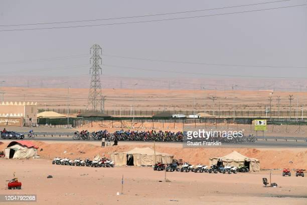 Peloton / Landscape / during the 1st Saudi Tour 2020, Stage 5 a 144km stage from Princess Nourah University to Al Masmak / #SaudiTour / on February...