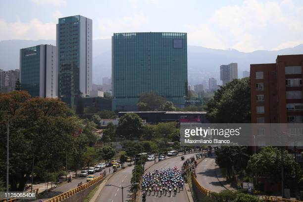 Peloton / Landscape / during the 2nd Tour of Colombia 2019 Stage 4 a 1444km race from Medellin to Medellin Atanasio Girardot Stadium /...