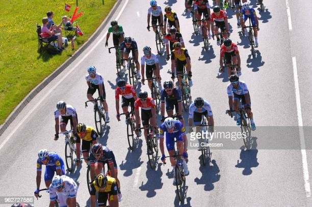Peloton / Landscape / during the 2nd Velon Hammer Series 2018 Stage 2 a 922km stage from Stavanger to Stavanger / Hammer Sprint / on May 26 2018 in...