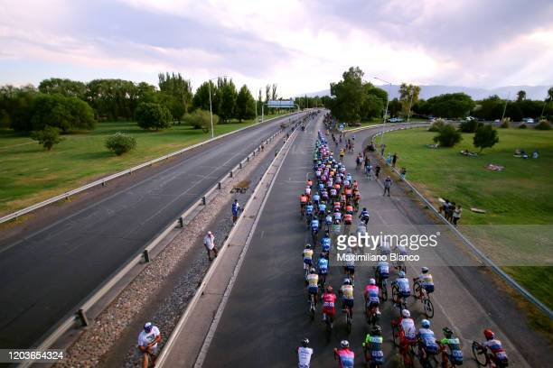 Peloton / Landscape / during the 38th Vuelta a San Juan International 2020, Stage 7 a 141,3km stage from San Juan to San Juan / @vueltasanjuanok /...