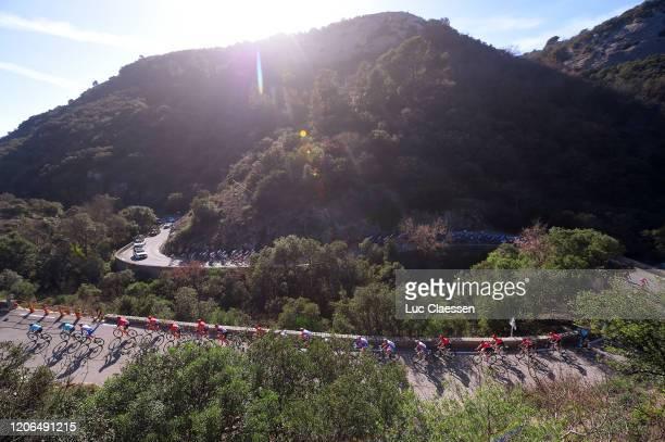 Peloton / Landscape / during the 5th Tour de La Provence 2020, Stage 3 a 143,5km stage from Istres to Chalet Reynard - Mont Ventoux 1429m / TDLP /...