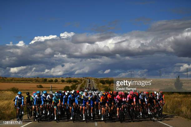 Peloton / Landscape / during the 75th Tour of Spain 2020, Stage 4 a 191,7km stage from Garray - Numancia to Ejea de los Caballeros / @lavuelta /...