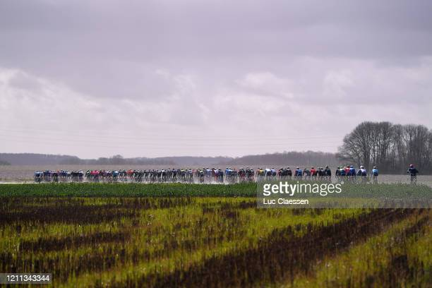 Peloton / Landscape / during the 78th Paris Nice 2020 Stage 2 a 1665km stage from Chevreuse to ChaletteSurLoing / #ParisNice / @parisnicecourse / PN...