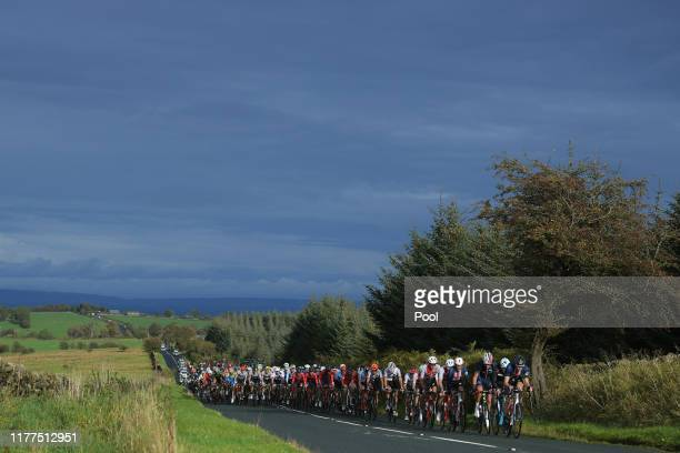 Peloton / Landscape / during the 92nd UCI Road World Championships 2019 Men Under 23 Road Race a 173km race from from Doncaster to Harrogate 121m /...