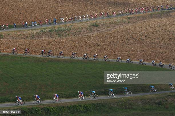 Peloton / Landscape / during the 99th Milano Torino 2018 a 200km race from MagentaMilan to TorinoSuperga 669m on October 10 2018 in Turin Italy