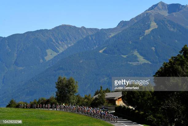 Peloton / Landscape / during the Men Under 23 Road Race a 1799km race from Kufstein to Innsbruck 582m at the 91st UCI Road World Championships 2018 /...