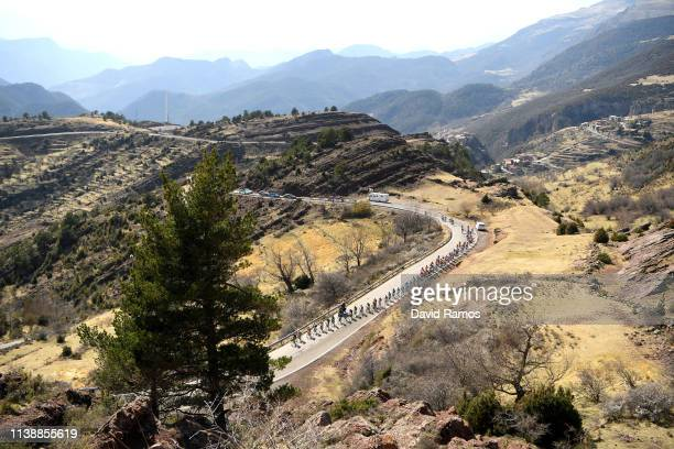 Peloton / Landscape / Fans / during the 99th Volta Ciclista a Catalunya 2019, Stage 4 a 150,3km stage from Llanars - Vall de Camprodon to La Molina...
