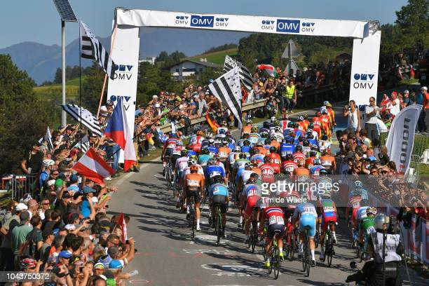 Peloton / Landscape / Fans / Public / during the Men Elite Road Race a 2585km race from Kufstein to Innsbruck 582m at the 91st UCI Road World...