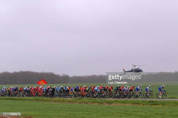 Peloton / Landscape / Fans / Public / Helicopter / during the 78th Paris Nice 2020 Stage 3 a 2125km stage from ChalettesurLoing to La Châtre /...